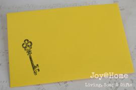 Envelopjes met sleutel stempel in vele kleuren