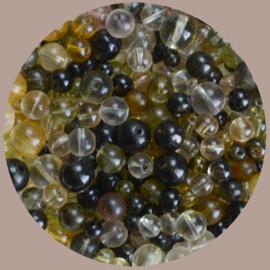 Kralen mix, olijfgroen