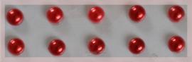 Plakparels, rood