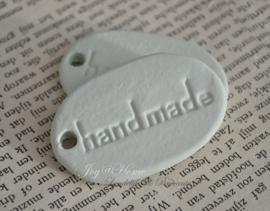 Stenen label handmade in vele kleuren