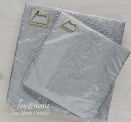 Servetten Elegance silver in 2 afm.