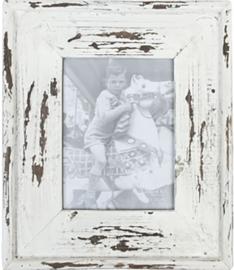 Fotolijstje oud wit