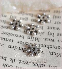 Kralen stopper metaal, antiek zilver