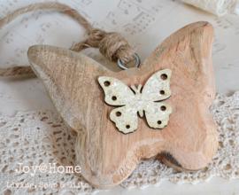 Vlinder hout en glitters