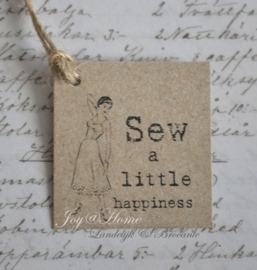 Kraft label, Sew a little happiness