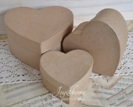 Kraft harten doosjes in 3 afm. met of zonder kantje