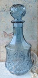 Karaf glas oud blauw