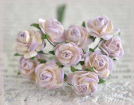Mulberry roosje papier, lila-crème