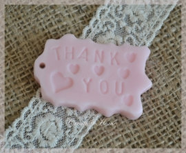 Zeepjes label Thank you. Per 5