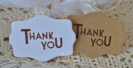 Kraft sticker Thank you in diverse kleuren