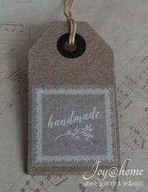 Dikke kraft label Handmade