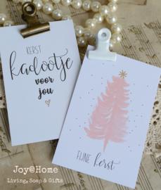 Kerst kaartjes met klemmetje