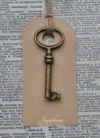 Label met sleutel
