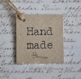 Kraft label, Handmade