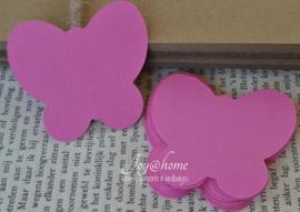 Label vlinder in vele kleurtjes & afm. met of zonder touwtje & tekst