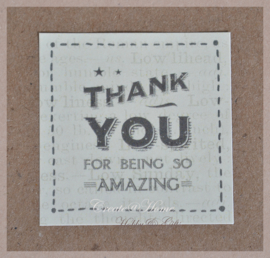 Vintage sticker Thank you for being so amazing