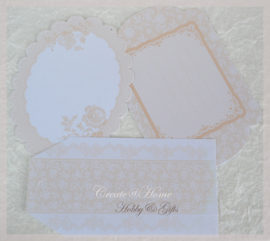 Die-cut Notelet, Oyster Blush