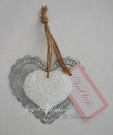 Zinken hartje, zeephartje & label. Kleur & tekst naar keuze