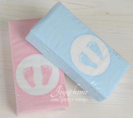 Papieren zakdoekjes Baby voetjes