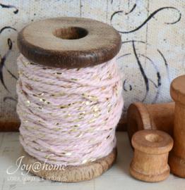 Mini klosje met cotton twist gouddraad in 6 kleuren