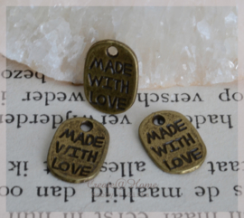 Bedeltje bronskleur, made with love
