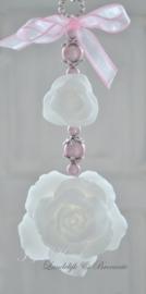 Zeepketting, zeeprozen roze/wit