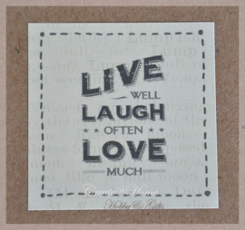 Vintage sticker Live, laugh, love