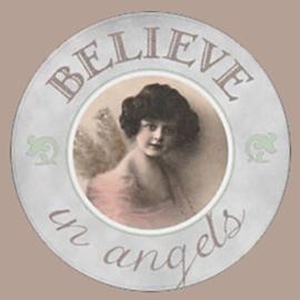 Sticker Believe in angels nostalgisch