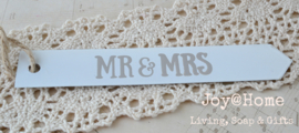 Zinken label Mr & Mrs