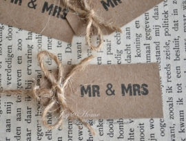 Kraft label MR & MRS