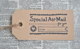 Label Special Air mail in 7 kleuren