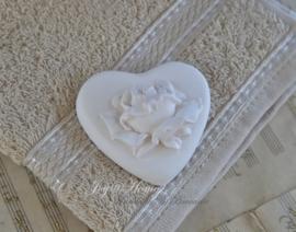 Gastendoekje & geursteen hart/roos in vele kleurtjes