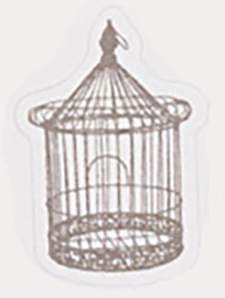 Sticker vogelkooitje