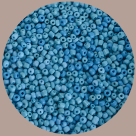 Kralen mix, rocailles blauw