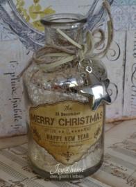 Flesje vintage Merry Christmas....