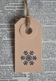 Label sneeuwvlok in 7 kleuren