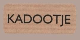 Sticker kraft Kadootje
