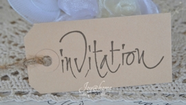 Label Invitation in 4 kleuren