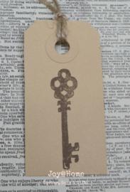Label antieke sleutel in 4 kleuren
