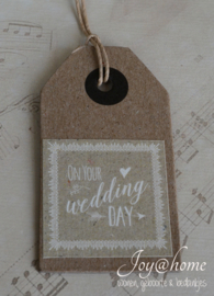 Dikke kraft label ...Wedding day...