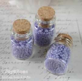 Mini flesjes met badpareltjes