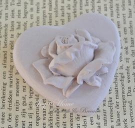 2 x geursteen hart met roos