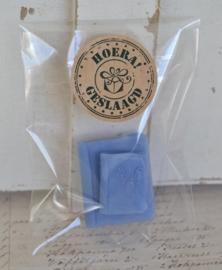 Cellofaan zakje met Hoera geslaagd sticker & een boekje van zeep