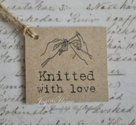 Kraft label, Knitted with love