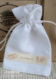 Katoenen zakje Handmade