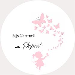 Sticker Mijn Communie was Super!