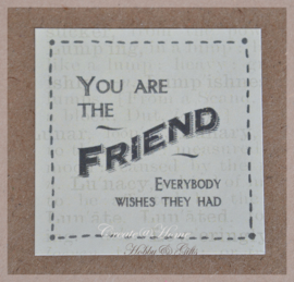 Vintage sticker You are the friend.....