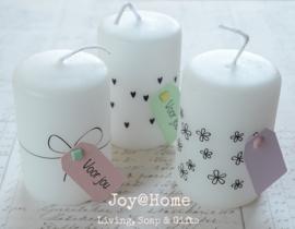Cadeaukaarsjes met splitpen en label eigen tekst in vele kleurtjes