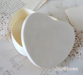 Doosje hartvorm hout