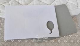 Envelopje met ballon & kaartje in vele kleurtjes